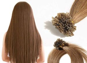 brown Hair - U Tip Hair Extensions
